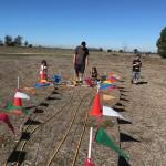 dad w 3 kids at air rocket IMG_6194