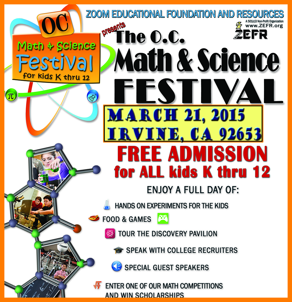 ZEFR - OC Math & Science Festival March 21st